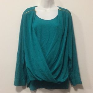 Green crisscrossed Front Top-Size L